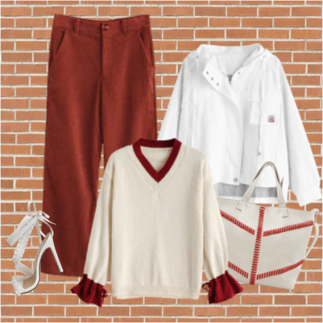Lovely combination of two-colored items. Perfect for going out, hanging with friends, spending free time. S…
