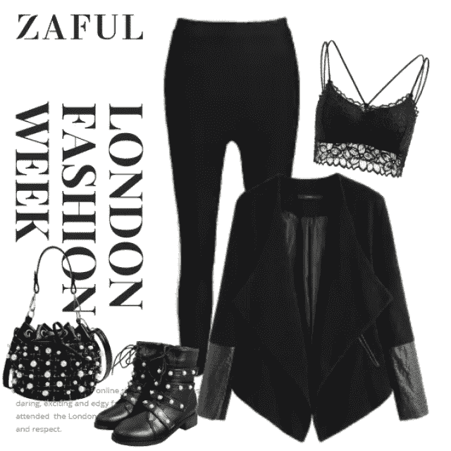 Rock n' Roll is in The Soul! Also on the Body :) Leggings, a faux leather panel on the jacket and faux pea…