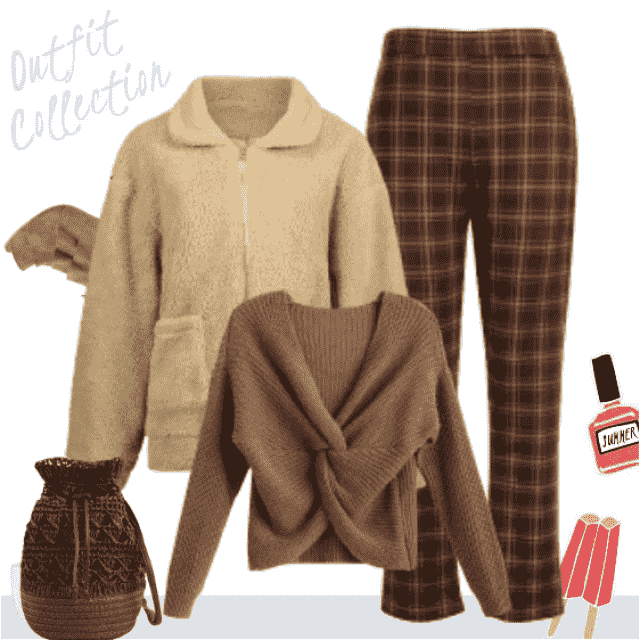 For every occasion, especially daily, this outfit in amazing shades of brown, will perfectly fit in ev…