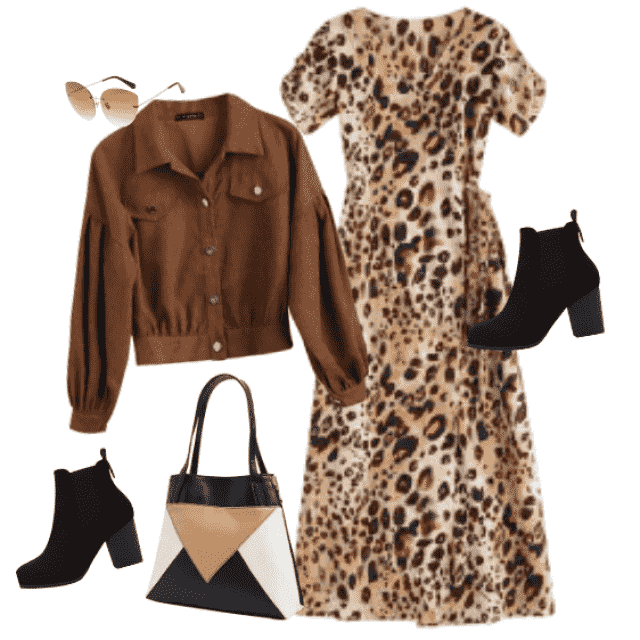 An attractive and modern look marked with this, Fall favorite, leopard print. Brown is also one of the…