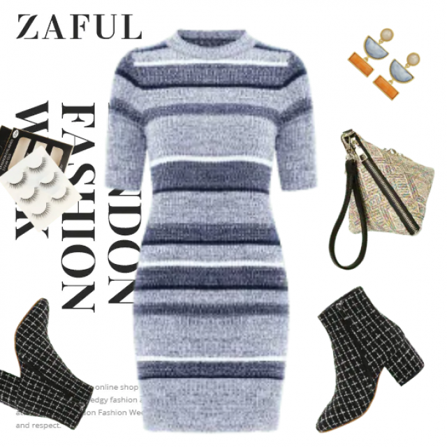 All we need for fancy look are lot of prints and Zaful dress!
