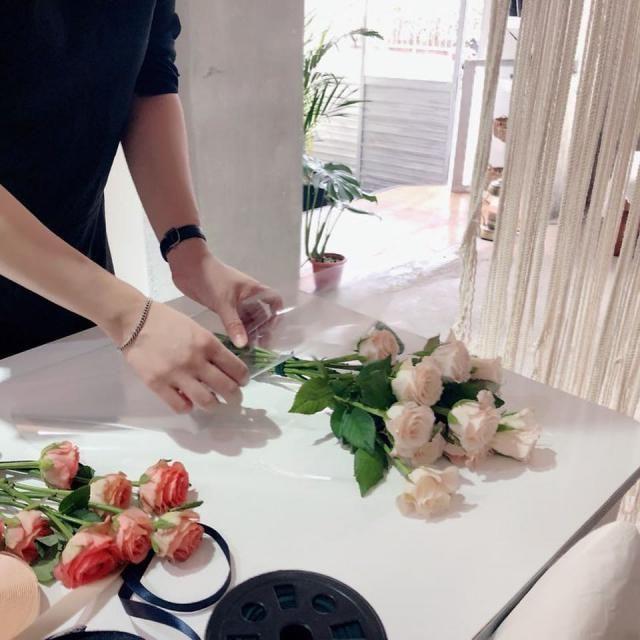 Flower shop assistant is a romantic job.