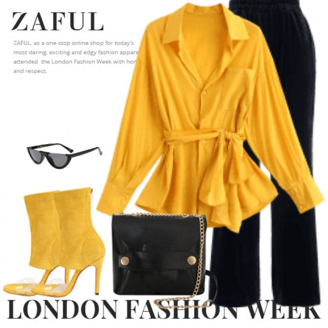Beautiful and elegant style - yellow and black in perfect harmony