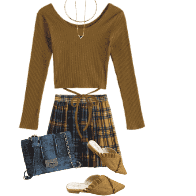 So cool and stylish combo with the skirt and beautiful top