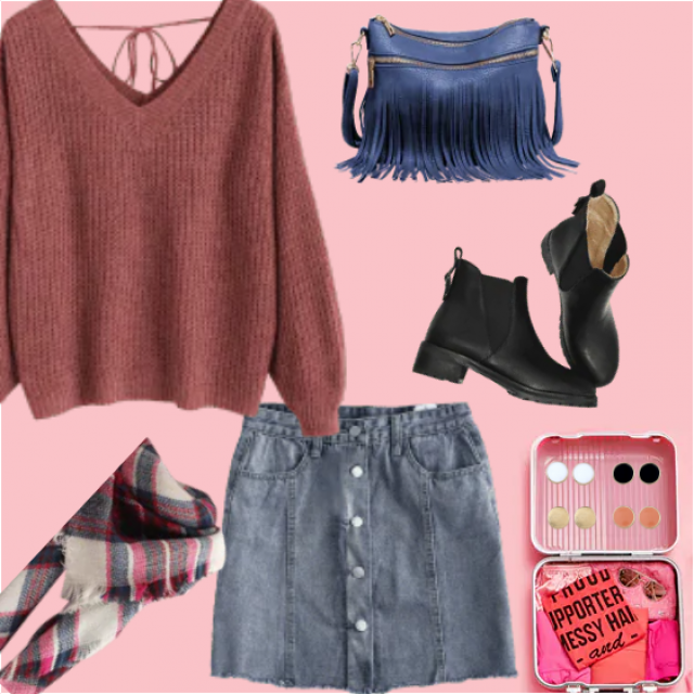 Lovely autumn style for chic look