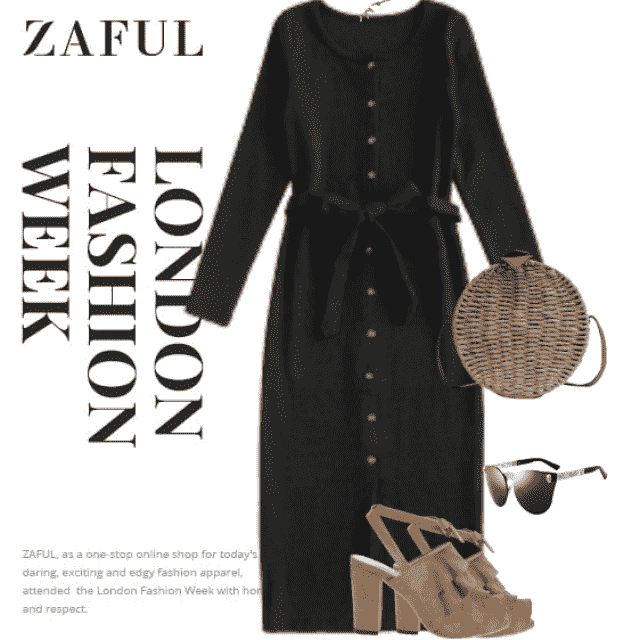Gorgeous black dress, stylish and beautiful