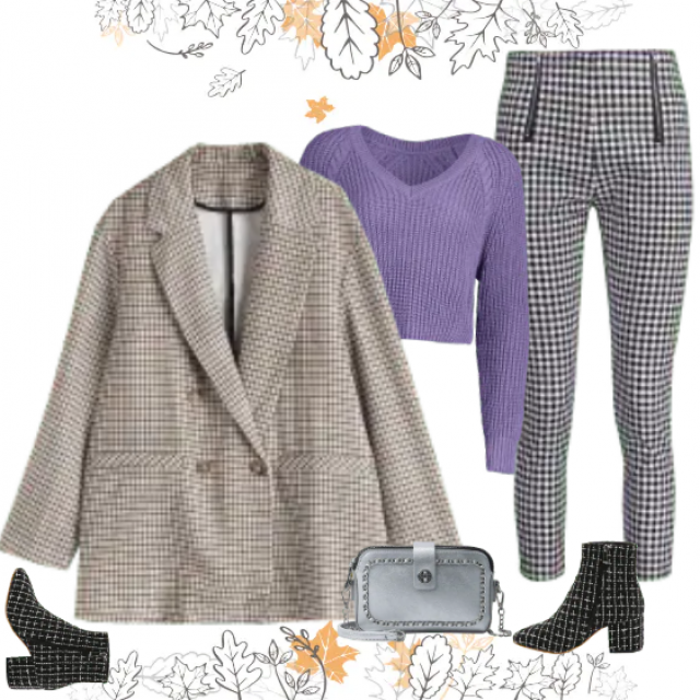 Perfect workwear. Plaid pattern is very modern this season, gives you a note of proffesionality, You …