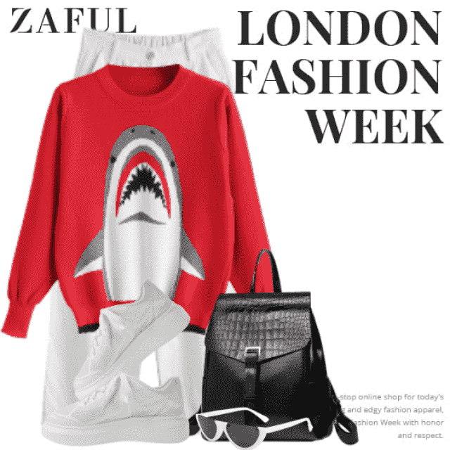 Gorgeous and stylish sweater with a skark - perfect and cool!