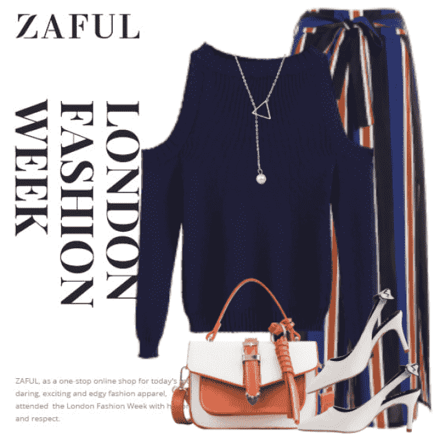 Beautiful and stylish sweater - perfect match with this striped pants. Get the look!