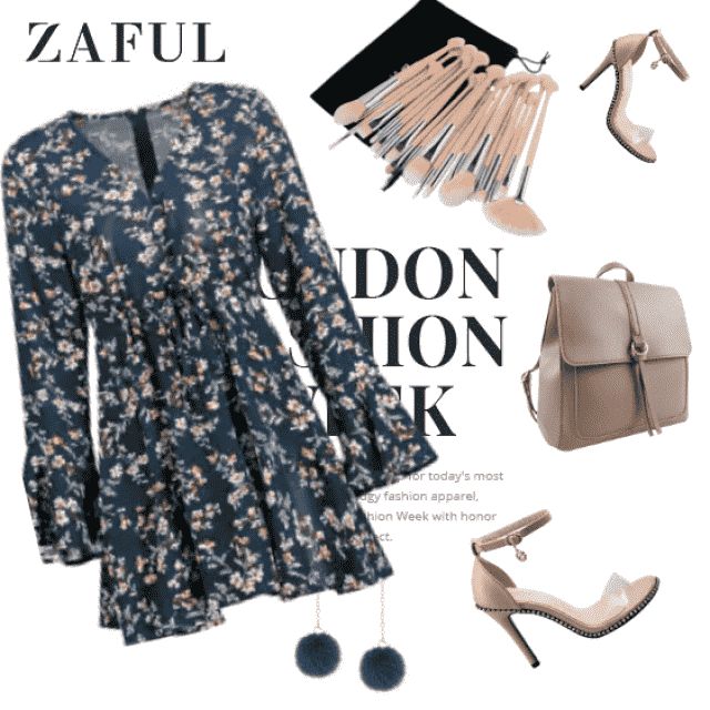 Fancy summer to fall outfit with floral dress!