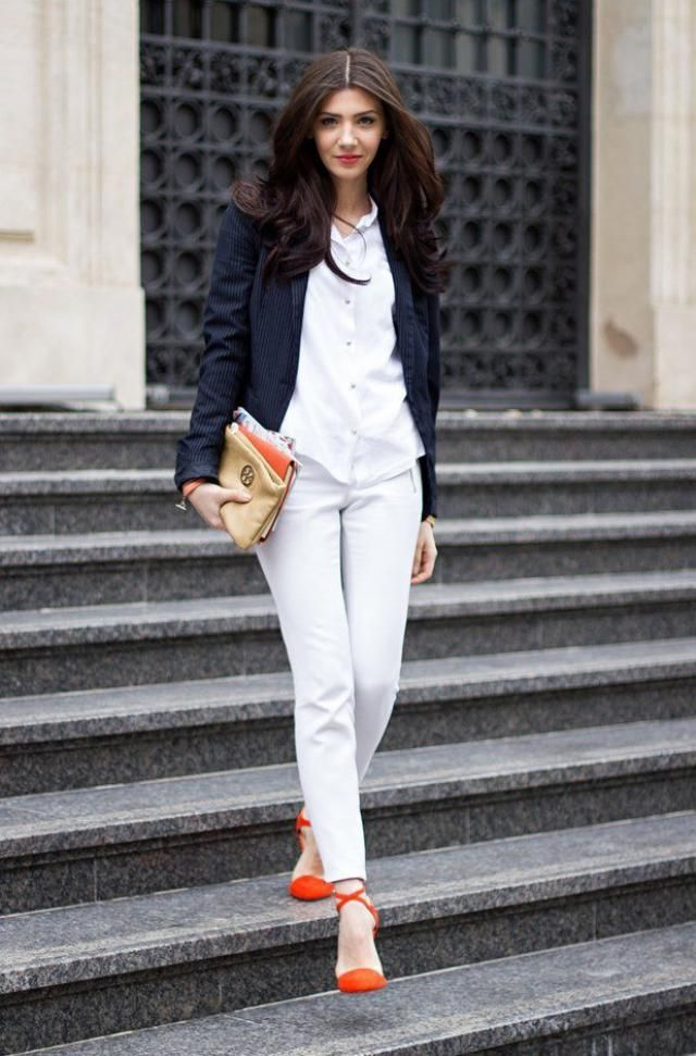 Crop Jacket And White Jeans