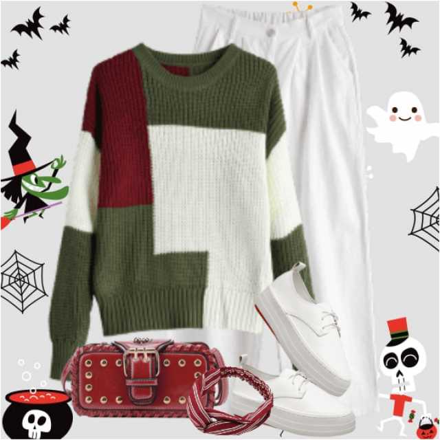 A beautiful casual combo here with a knitted sweater