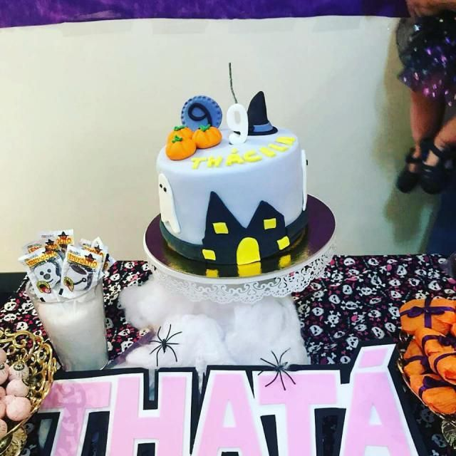 The cake I sat on.
