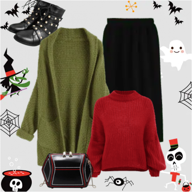 While you're waiting for Halloween, you can enjoy in this lovely outfit. Everywhere. it's suitable fo…