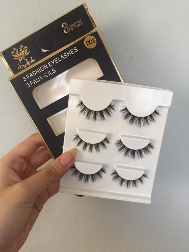 The quality feels super soft, like real hair and not the plastic kind. Amazing price for three pairs of lashes. The be…