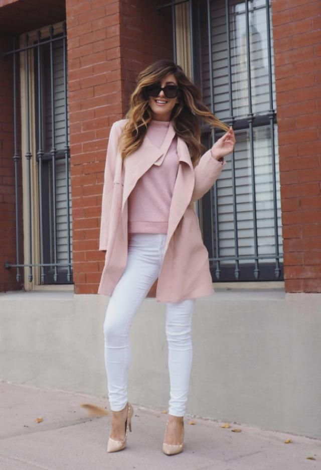 Coat Pink And Jeans