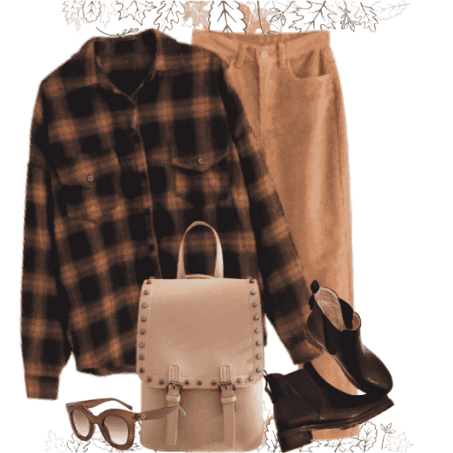 Casual combo - perfect with this blouse! Wear it for autumn