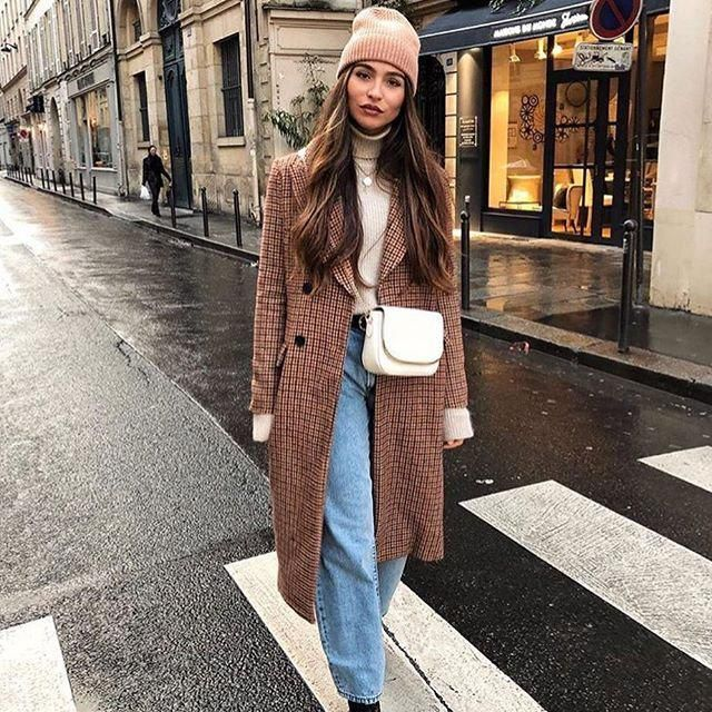 For a comfy warm chic coat this plaid coat is for you