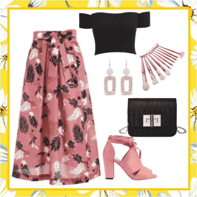beautiful flower print skirt
