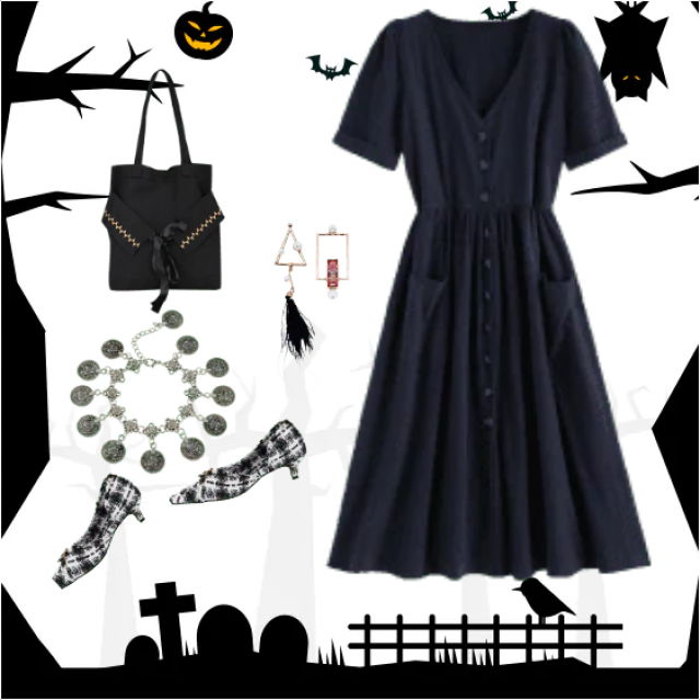 Be the Queen of Halloween in this fabulous outfit! simple but intriguingly and powerful! Although you …