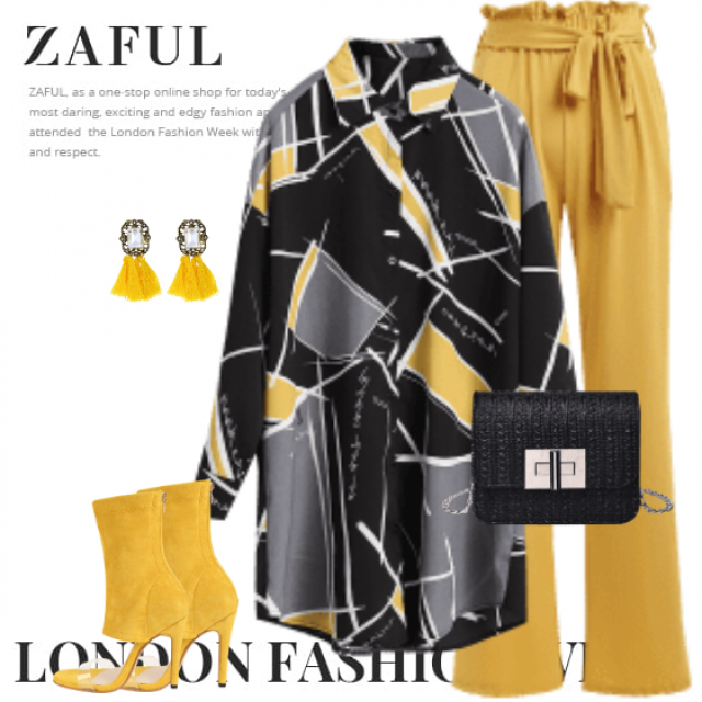 So stylish look with this blouse and the yellow pants