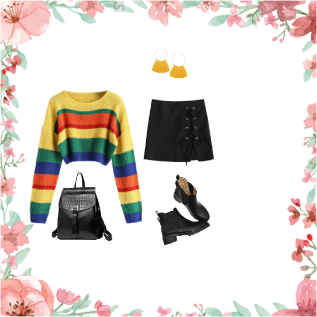 this is a outfit you put on in spring when you fell like being chic but cool as well;)