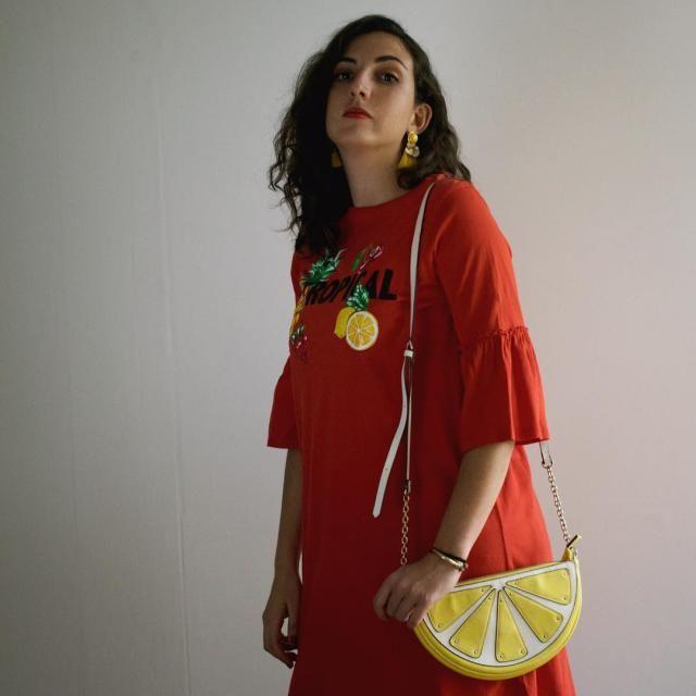 I love my lemon shaped bag.