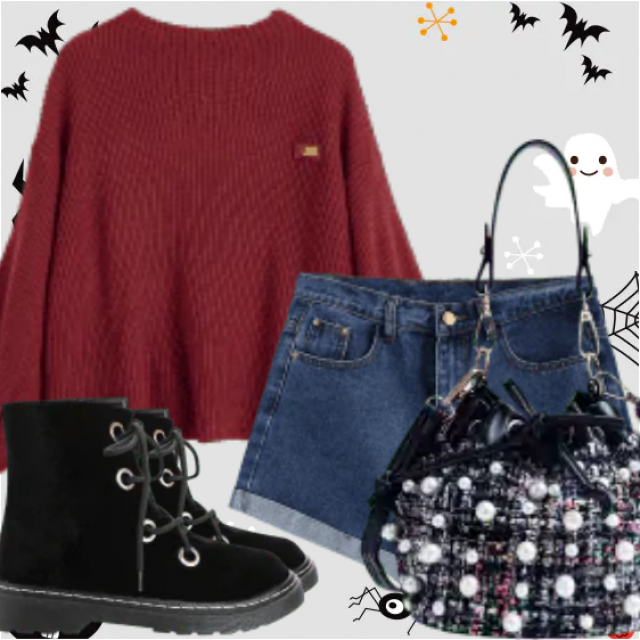 What to Wear for Halloween Night?  Zaful have solution for you. This is a fancy Halloween outfit for …