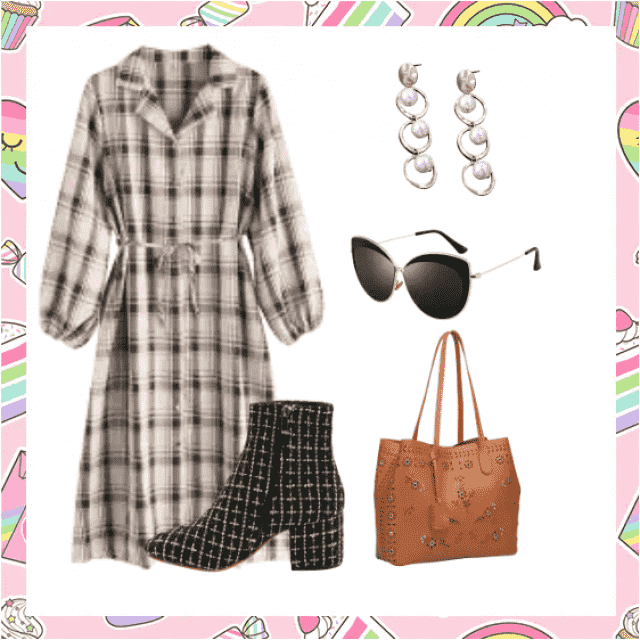 Trendy plaid dress for all occasions