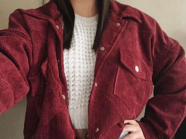 This jacket is super comfy, super cute and great for fall as it is lined and decently warm.  I love the oversized feel…