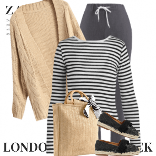 Very chic casual style here - perfect for a shopping day