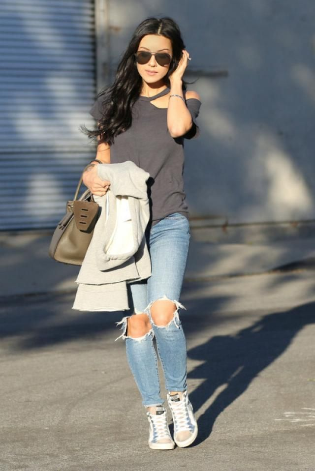 Hole Distressed Jeans,,,