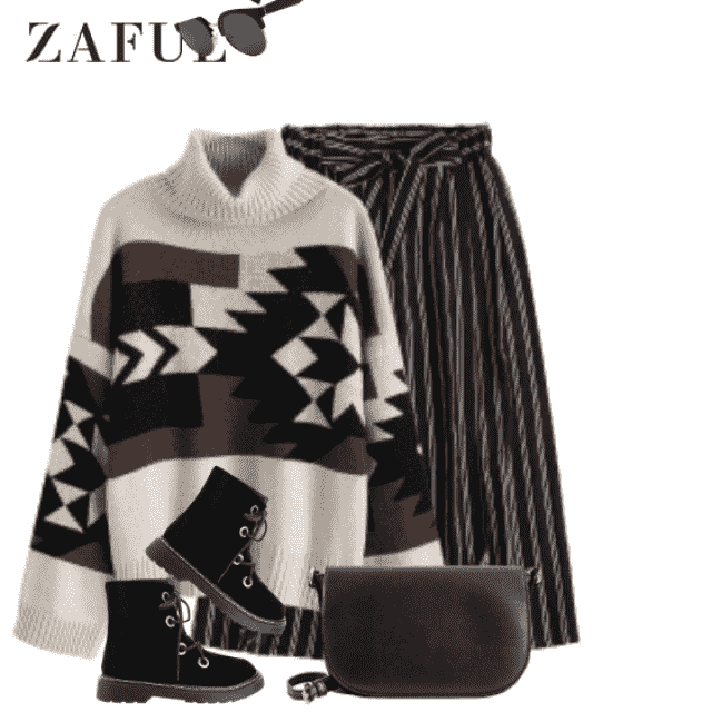 Trendy sweater with gorgeous pattern - perfect for autumn