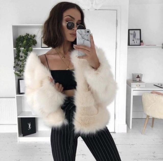 Cozy Zip Up Faux Fur Winter Short Coat