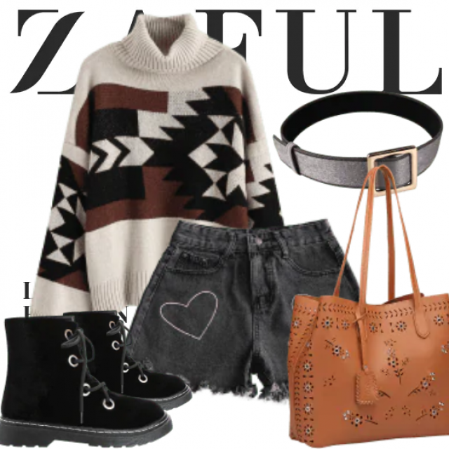 What to Wear?  Zaful have solution for you. This is a trendy outfit for girls who want to be different…