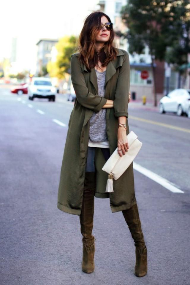 Coat  Army Green And Jeans