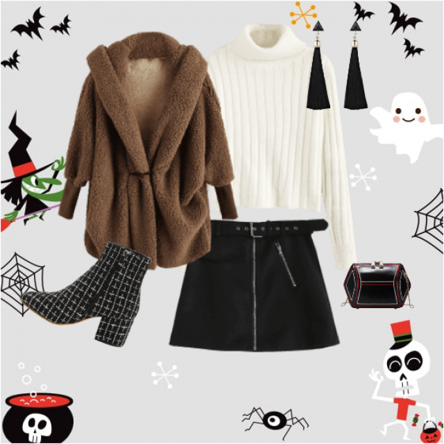 Cozy warm Halloween outfit
