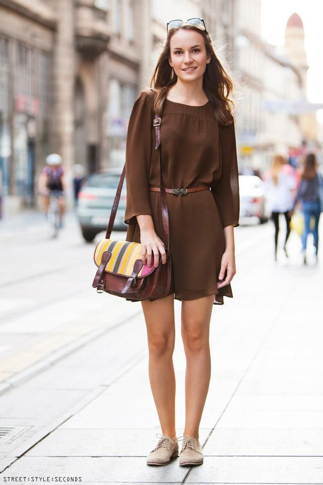 Belted Dress  Coffee