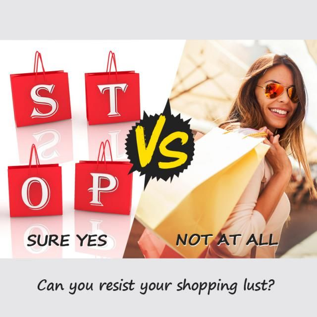 Can you resist your shopping lust?