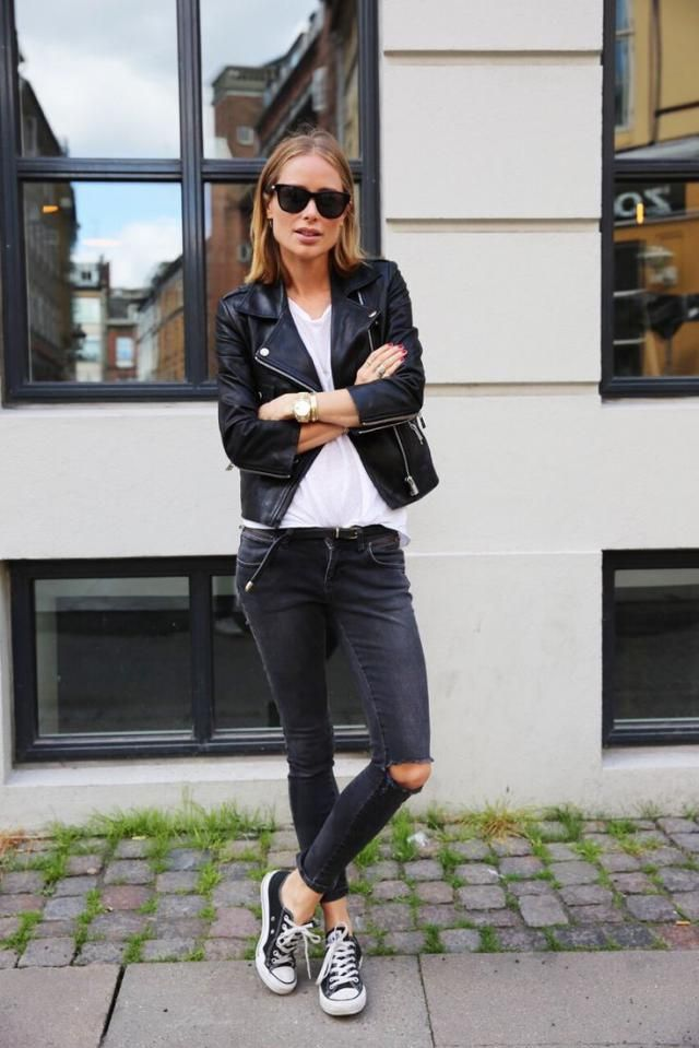 Zip Up Pockets Belted Faux Leather Jacket
