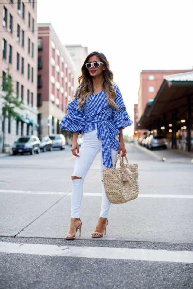 Ripped Ankle Skinny Jeans White Fashion women ,only from ZAFUL ,buy here,online shop!!!