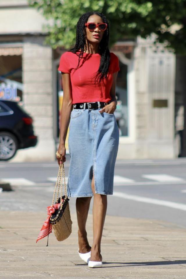 Slit Belted Denim Skirt  Top denim skirt ,online shop ,buy here,best of ZAFUL!!!