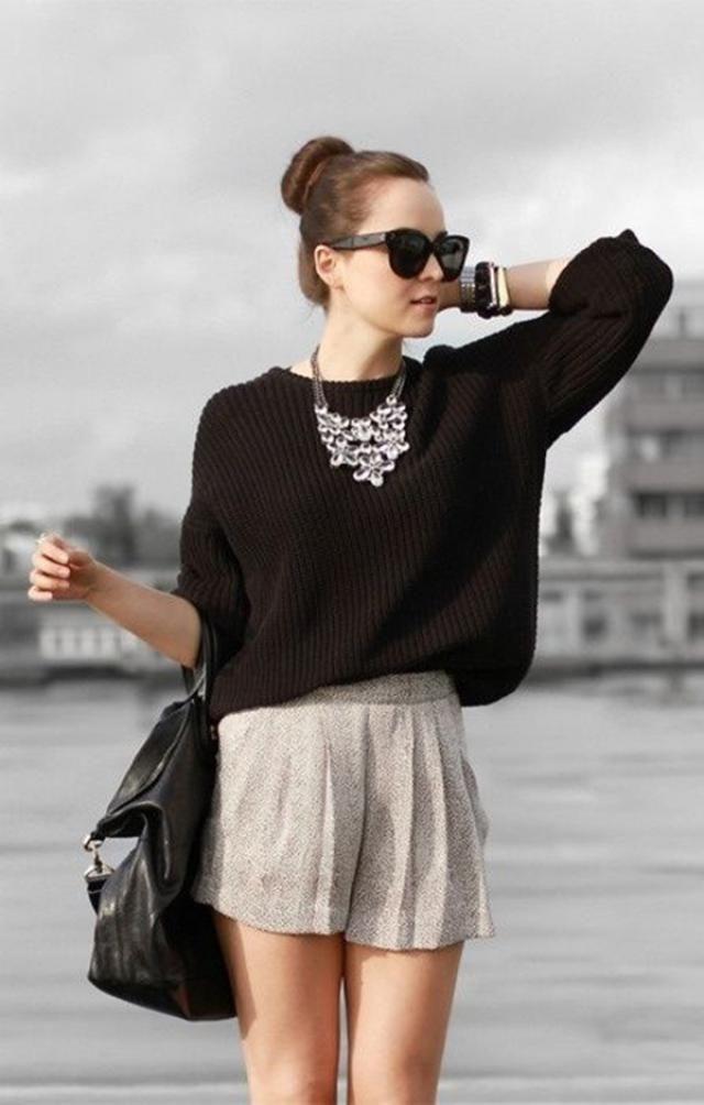 ZAFUL Chunky Knit Loose Sweater  Black Here buy ,online shop ,women fashion ,only best of ZAFUL!!!