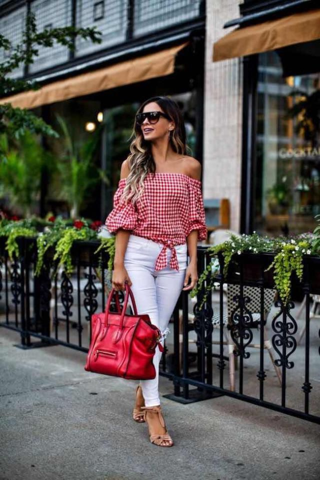 Ripped Ankle Skinny Jeans  White