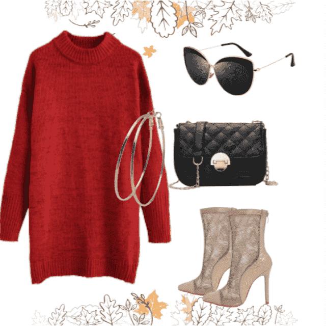 Wonderful sweater dress in ZAFUL ,buy here ,online shop !!!