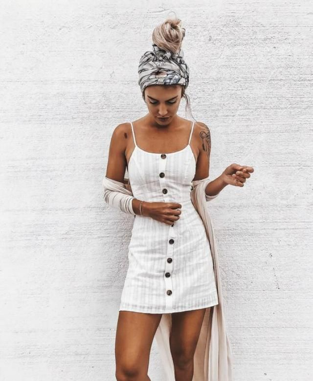This white dress is so beautiful that it transmits peace, I love it! and it's at an excellent price! ♥♥♥ · · · · ·…