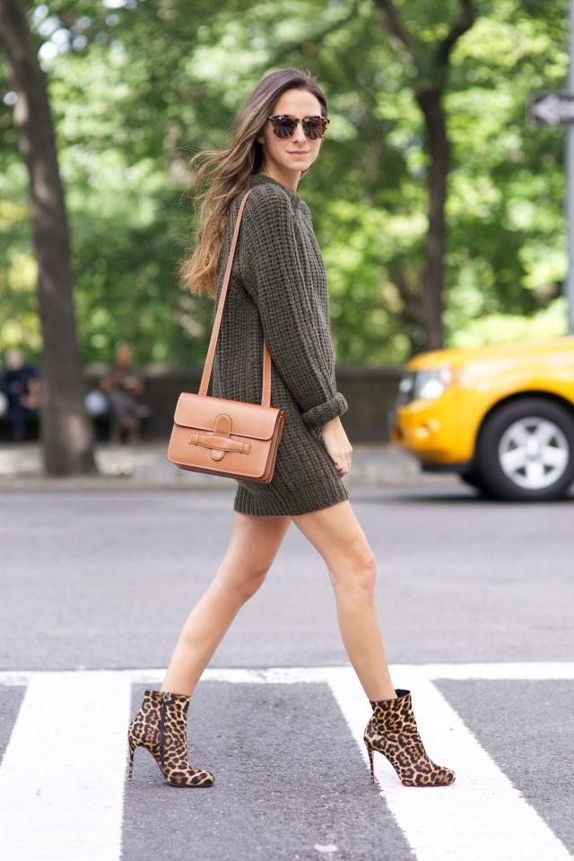 Sweater Dress And Sunglasses  Leopard Beautiful sweater dress and modern sunglasses ,only in ZAFUL,buy here ,online sh…
