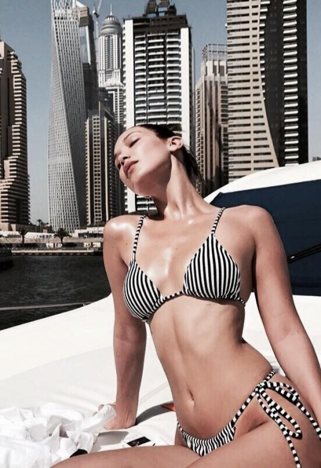 How do you feel about a striped bikini?