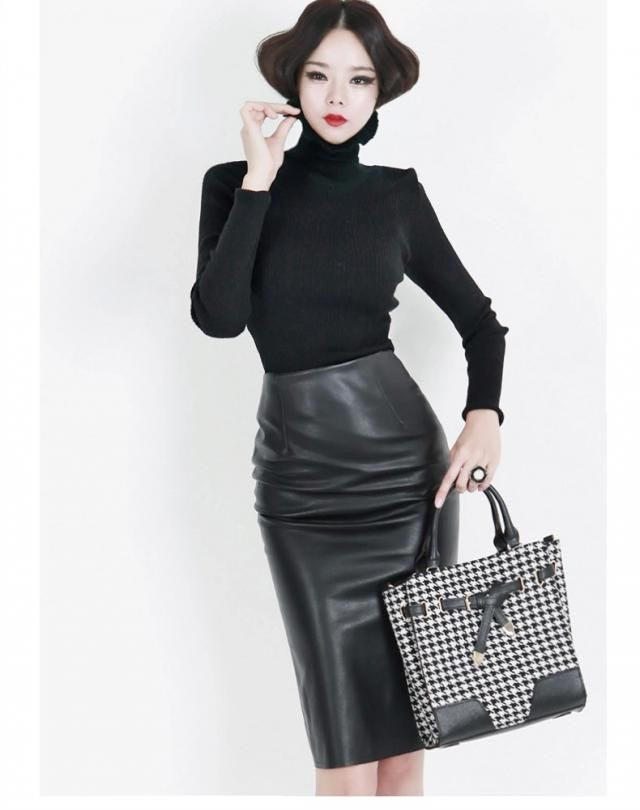 Trendy leather skirt, for an attractive look, buy a great online store