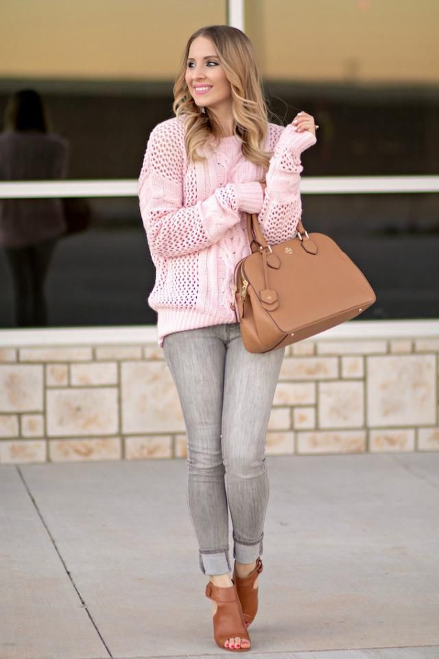 Jeans  Gray And Sweater Pink Pink and gray,perfect combination,sweater and jeans ,buy here,best of ZAFUL!!!